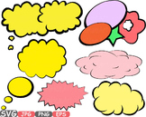 Comic Text Props Super hero clip art Pop Art Speech Bubble baby shower svg -436s
