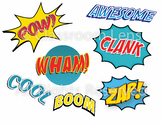 Comic Themed Action Word Set