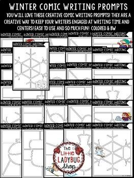 Comic Winter Writing Prompts - 4th Grade, 5th Grade & 3rd Grade