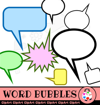 Comic Word Bubble Clip Art