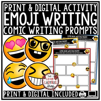 Emjoi Writing Prompts- 3rd Grade, 4th Grade, 5th Grade [Co