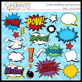 Comic and superhero bubble clipart