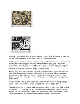 Comic Book Themed 8-Part Art Curriculum