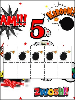Comic number chart posters.