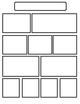 Comic strip page (Blank) Bande dessinée (planche vierge)