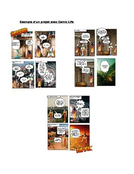 Comic strip project: Ancient Egypt myth in French