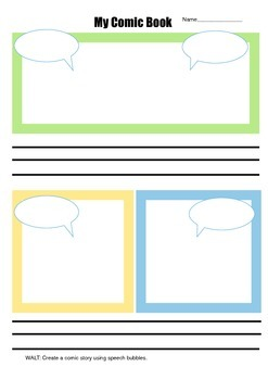 Comic writing frame