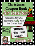 Comical Christmas Coupon Book for Teachers (FREE Sample Set)
