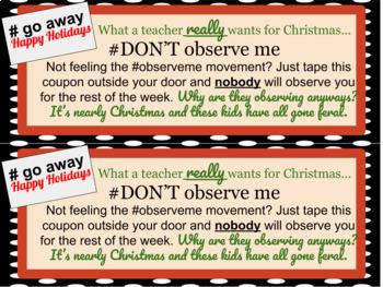 Comical Christmas Coupon Book for Teachers (FREE Sample Set)