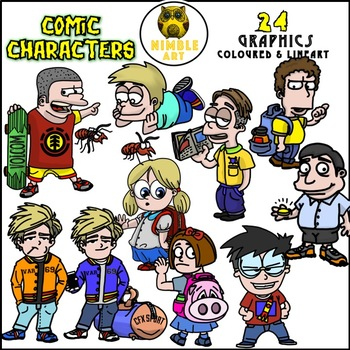 Comic Characters Clipart
