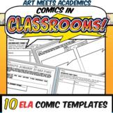 Comics in Classrooms-10 ELA Comic Templates