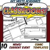 Comics in Classrooms-10 News and Events Comic Templates