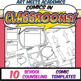 Comics in Classrooms-10 School Counseling Comic Templates