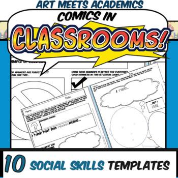 Comics in Classrooms-10 Social Skills Comic Templates