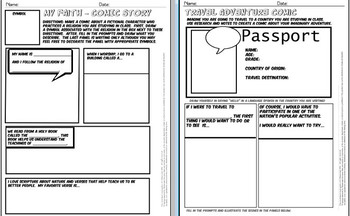 Comics in Classrooms-10 Social Studies Comic Templates