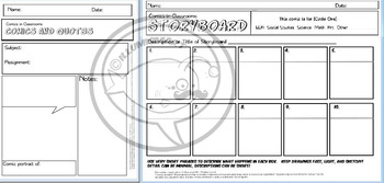 Comics in Classrooms Lesson: Basic Panels for Comic Strips and Pages