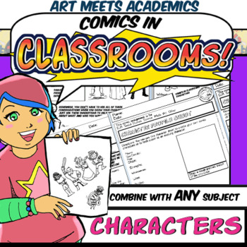 Comics in Classrooms Lesson: Characters- Writing and Visual Design