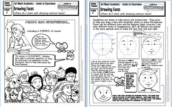 Comics in Classrooms Lesson: Drawing Cartoon Character Faces