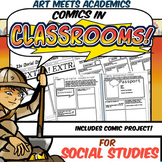 Comics in Classrooms-Social Studies Edition! Comic Project and Templates!