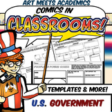 Comics in Classrooms-U.SA. Government Edition! Comic Project and Templates!