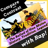 Compare & Contrast Fiction Passage Questions & Writing Activity Using Rap Song