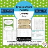Comida / Food Breakout EDU Puzzles