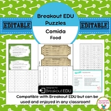 Comida / Food Breakout EDU Puzzles