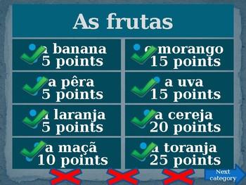 Comida (Food in Portuguese) Family Feud