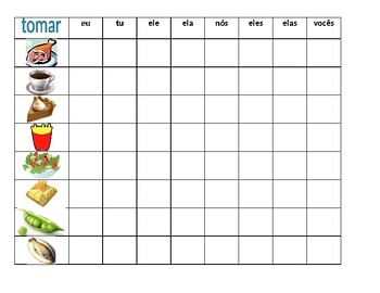 Comida (Food in Portuguese) Tomar Connect 4 game