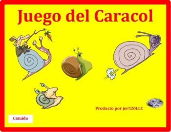 Comida (Food in Spanish) Caracol Snail Game