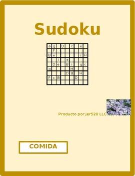 Comida (Food in Spanish) Sudoku