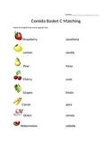 Comida Matching Worksheet