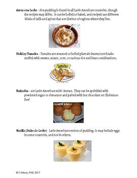 Comida Navidena  y las actividades/ Christmas Food & Traditional activities