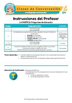 Comida - Spanish Speaking Activity