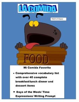 Mi Semana de Comida- Students Breakfast/Lunch/Dinner in Sp