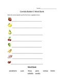 Comida Word Bank Worksheet