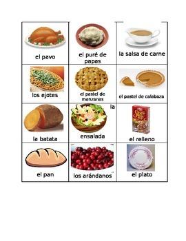 Comida del Día de Acción de Gracias  (Thanksgiving Food in Spanish)