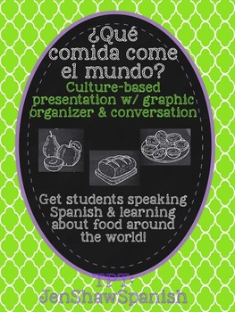 Comida del Mundo: Cultural Presentation, Graphic Organizer, & Speaking Activity