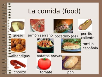 Comida y Bebida - Food & Drink PPT - teaching aid