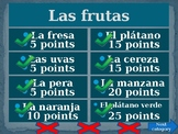 Comidas (Food in Spanish) Family Feud game