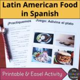 Comidas típicas: grammar, reading and speaking for Spanish class