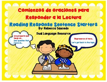 Journal response sentence starters posters (English/Spanish)