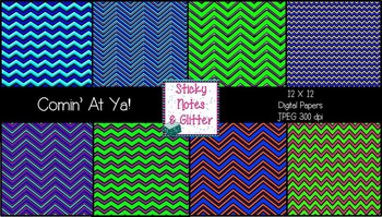 Comin' At Ya (8 Chevron Style Digital Papers for Personal/Commercial Use)
