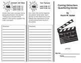 Coming Distractions Questioning Movies Common Core Trifold/ Journeys Houghton M
