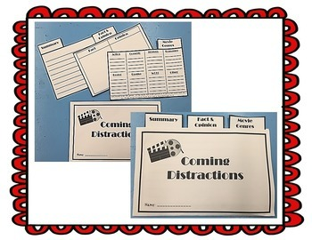 Coming Distractions Questioning Movies  Journeys Unit 2 Lesson 7 4th gr.