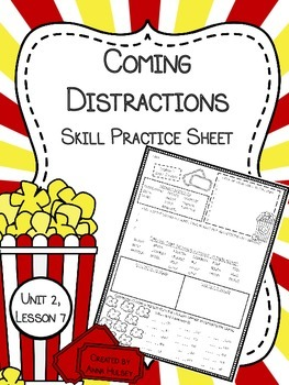 Coming Distractions (Questioning Movies): Skill Practice Sheet