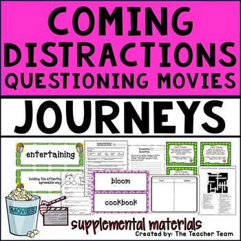 Coming Distractions Journeys 4th - Unit 2 Lesson 7 Activities and Printables