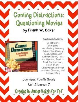 Coming Distractions Supplemental Activities 4th Grade Jour