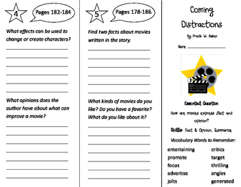 Coming Distractions Trifold - Journeys 4th Grade Unit 2 We