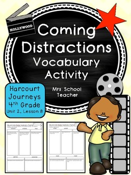 Coming Distractions Vocabulary Activity